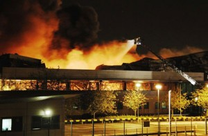 Sony Warehouse Fire