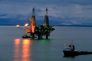 Oil production platform