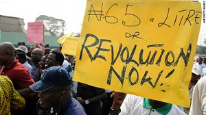 Nigerian Fuel Subsidy Protest