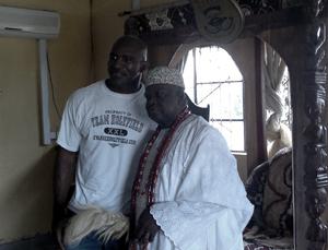 Evander Holyfield and Oba Akran of Badagry