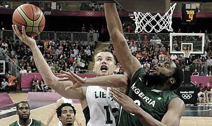Lithuania beat Nigeira London 2012