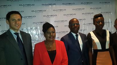 L-R: Simon Melchior, Mrs Ogunboye, Majekodunmi and Communications M Akinwande Oluwatobi
