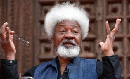 Wole Soyinka swears to 'cut up' US green card if Trump wins