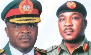 Chief of Army Staff, Lt. General OA Ihejirika and Gen Britrus Kwaji