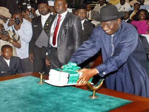 Goodluck Jonathan, Budget 2012