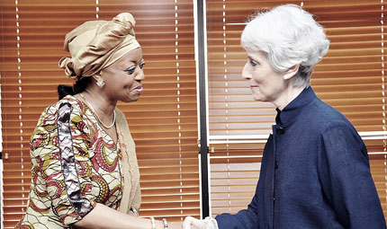 US Under Secretary of State for Political Affairs, Ambassador Wendy Sherman paid a visit to Nigeria's Petroleum Minister, Diezani Alison-Madueke