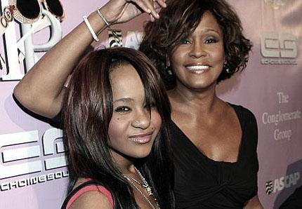 Whitney Houston and daughter Bobbi Brown