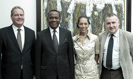 Bob Blackman MP, Nigerian Foreign Minister Olugbenga Ashiru, Helen Grant MP and Mark Williams MP