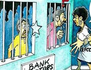 A cartoonist in Nigeria's Vanguard newspaper has little sympathy for bank debtors.