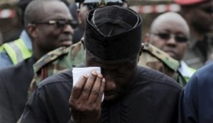President Weeps for Crash Victims