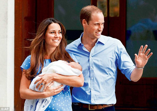 William¿s decision to put off full-time royal duties for at least another two and a half years was always going to offer the perfect window to add to his family. Above, he and Kate are pictured after Prince George's birth