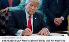 The Trump administration has not placed a ban on student visas for Nigerians